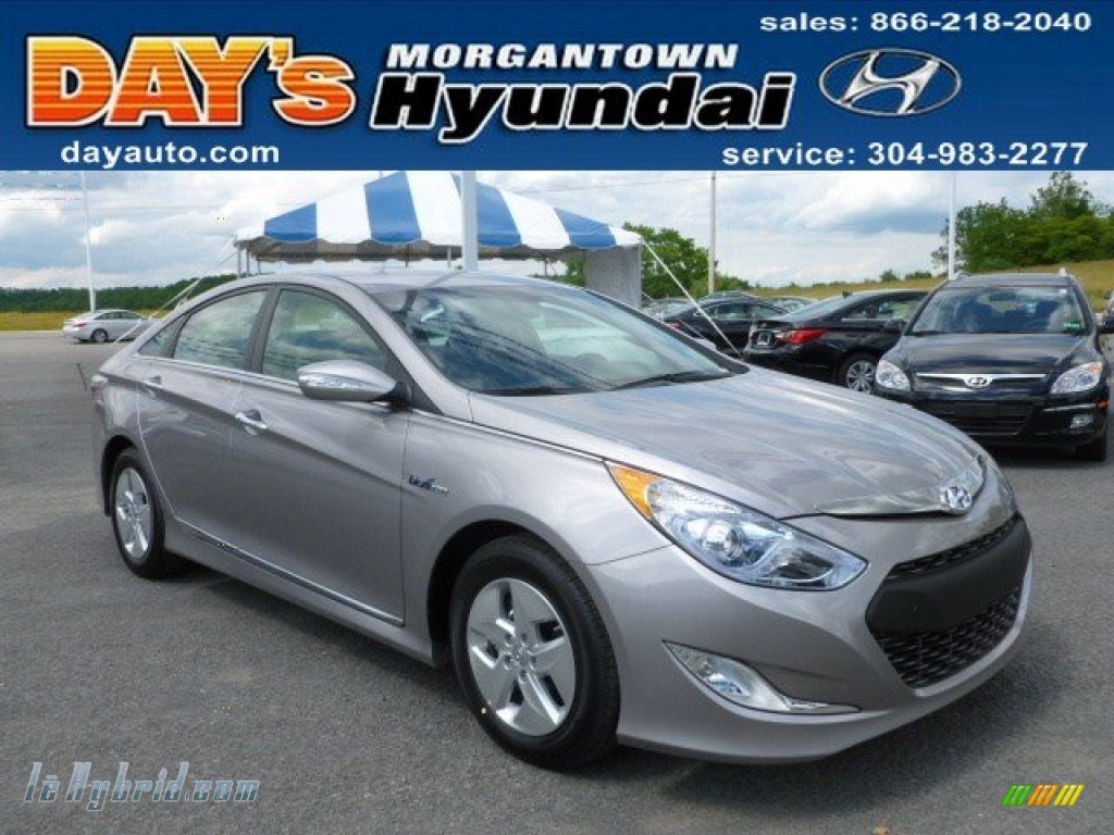 2012 Sonata Hybrid - Hyper Silver Metallic / Gray photo #1