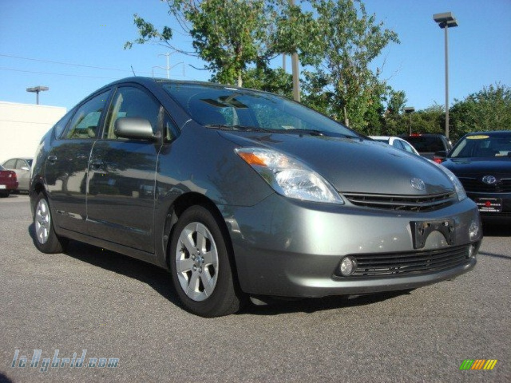 2005 Prius Hybrid - Tideland Gray Green Pearl / Ivory/Brown photo #1