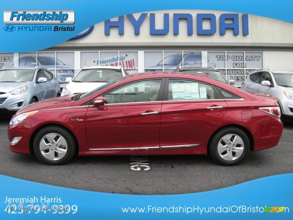 2011 Sonata Hybrid - Venetian Red / Camel photo #1