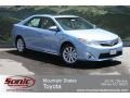 Toyota Camry Hybrid XLE Clearwater Blue Metallic photo #1