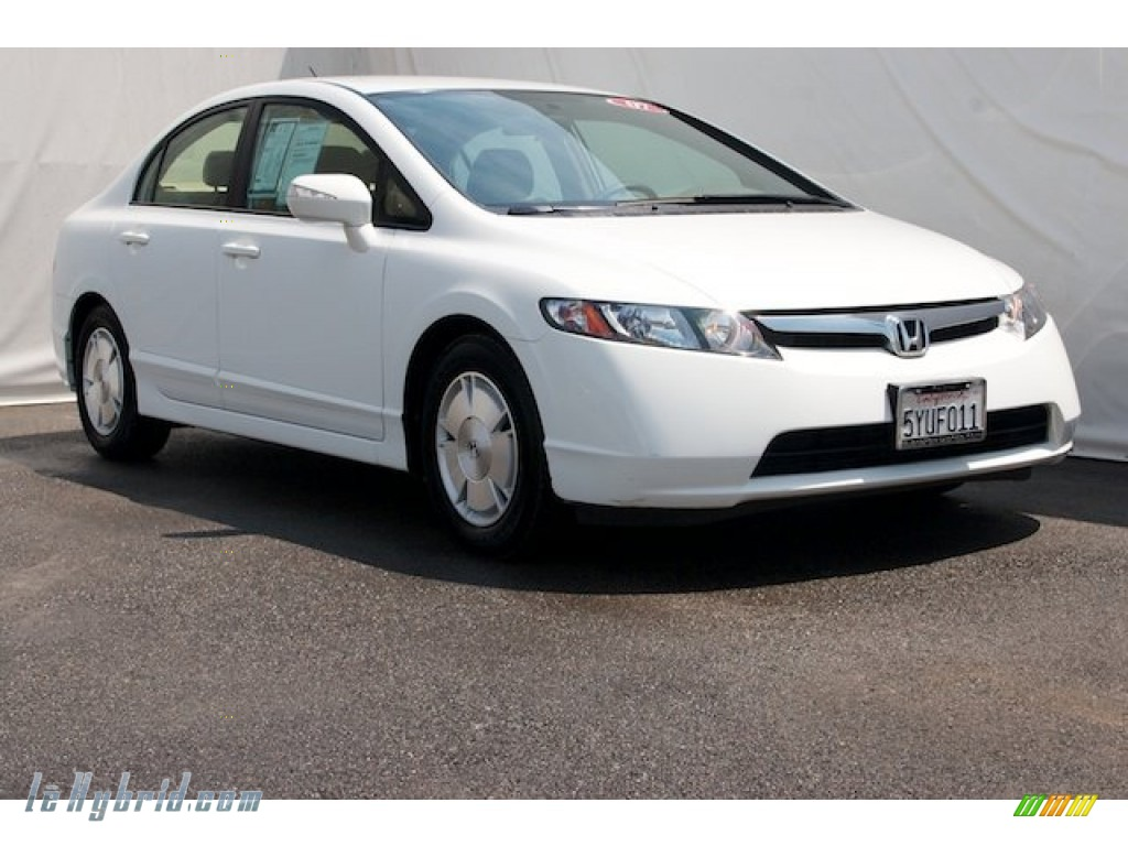 2007 honda civic hybrid sedan in taffeta white 014240 hybrid cars gasoline. Black Bedroom Furniture Sets. Home Design Ideas