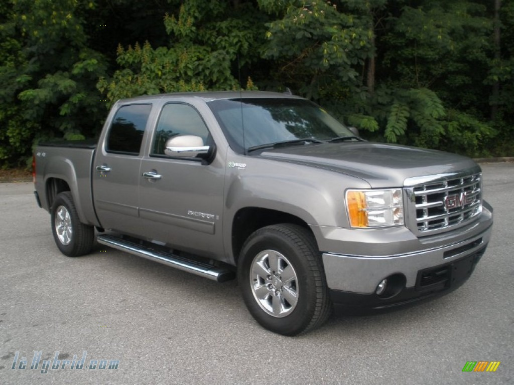 2009 gmc sierra 1500 hybrid crew cab 4x4 in steel gray metallic photo 10 122639 lehybrid. Black Bedroom Furniture Sets. Home Design Ideas