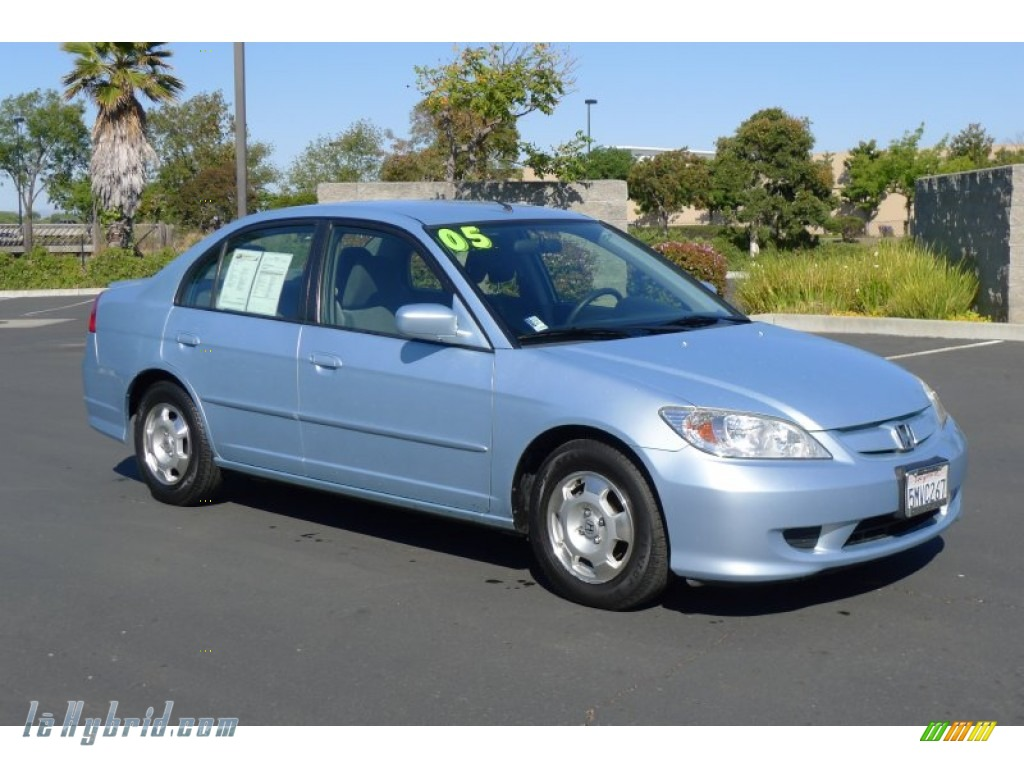 2005 Civic Hybrid Sedan Sline Mist Metallic Gray Photo 1