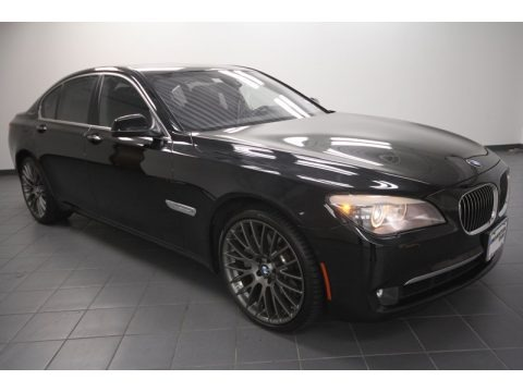Black Sapphire Metallic 2011 BMW 7 Series ActiveHybrid 750i Sedan