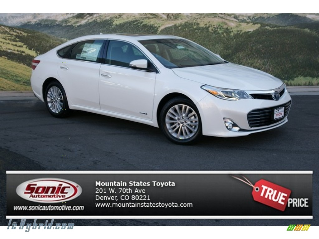 2013 toyota avalon hybrid limited in blizzard white pearl 001851 hybrid cars. Black Bedroom Furniture Sets. Home Design Ideas
