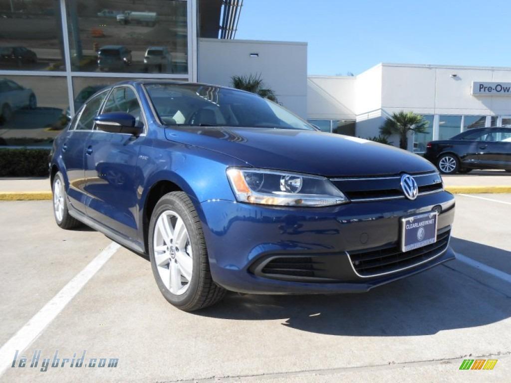 2013 Volkswagen Jetta Hybrid Sel Premium In Tempest Blue