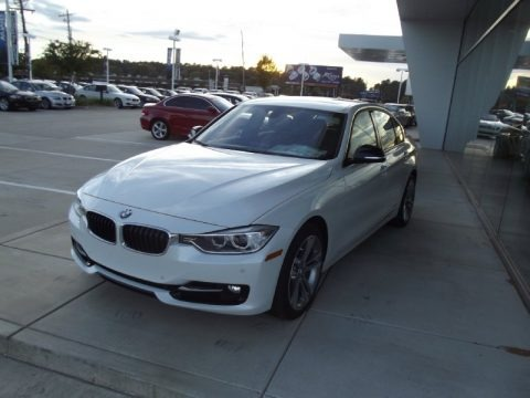 Mineral White Metallic 2013 BMW 3 Series ActiveHybrid 3 Sedan