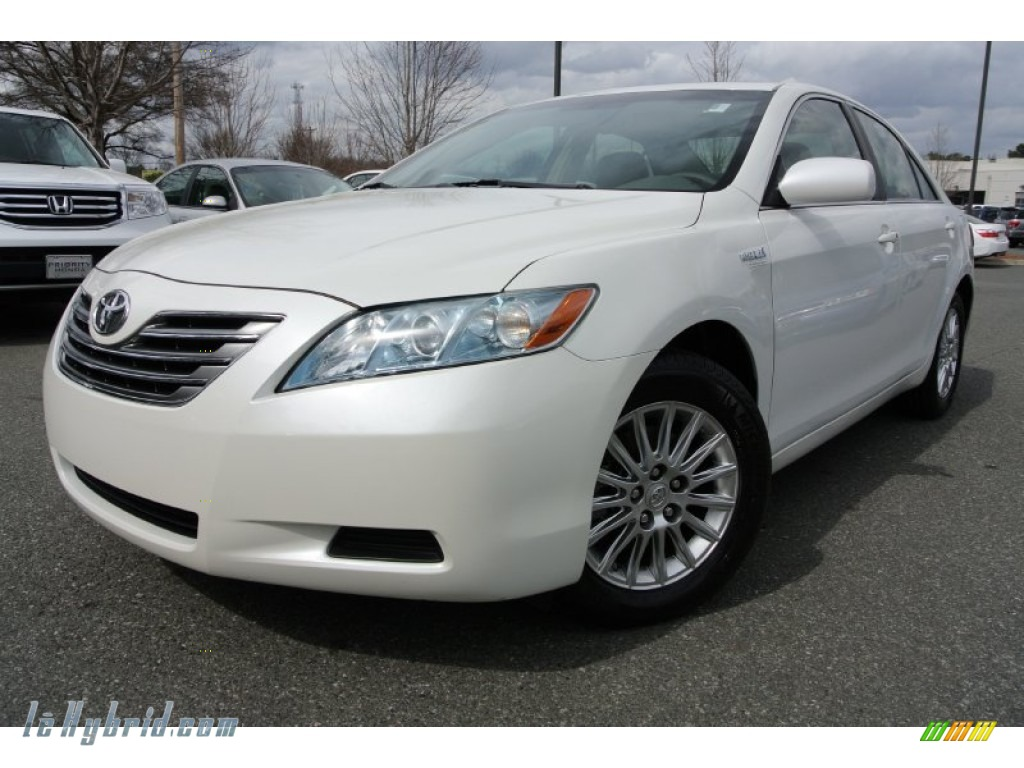2007 toyota camry hybrid in blizzard white pearl 017961 hybrid cars gasoline. Black Bedroom Furniture Sets. Home Design Ideas