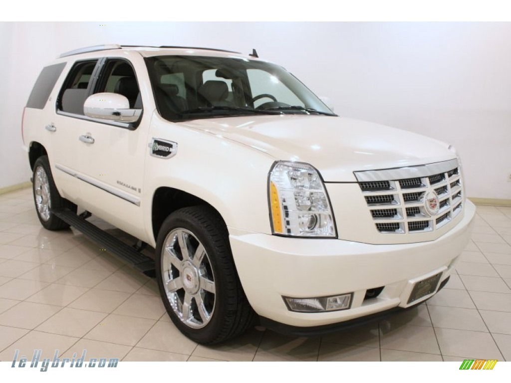 2009 cadillac escalade hybrid awd in white diamond 207717 hybrid cars. Black Bedroom Furniture Sets. Home Design Ideas