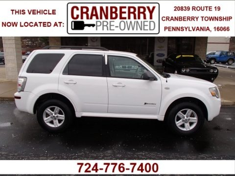 Oxford White 2008 Mercury Mariner Hybrid 4WD