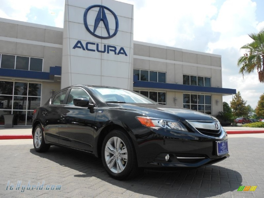 2013 ILX 1.5L Hybrid Technology - Crystal Black Pearl / Ebony photo #1