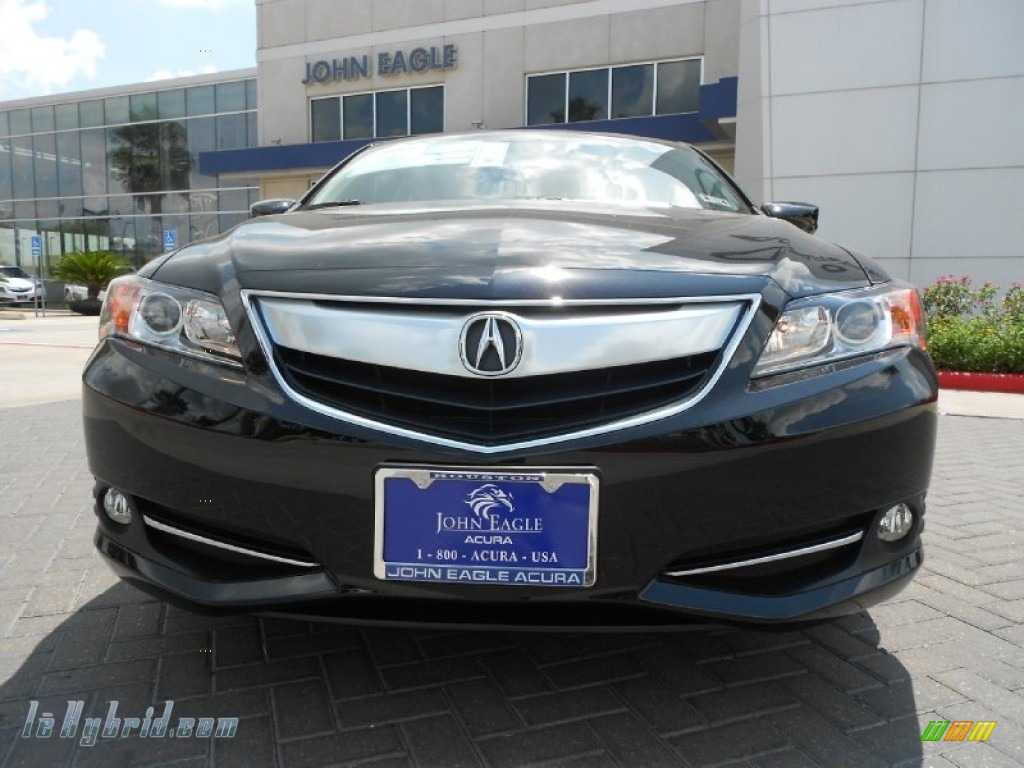 2013 ILX 1.5L Hybrid Technology - Crystal Black Pearl / Ebony photo #2