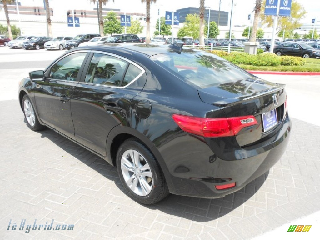2013 ILX 1.5L Hybrid Technology - Crystal Black Pearl / Ebony photo #5