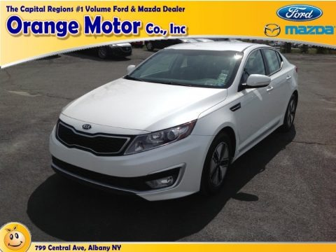 Snow White Pearl 2012 Kia Optima Hybrid