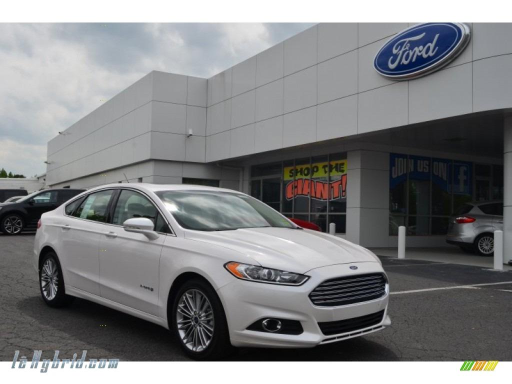 2013 Ford Fusion Hybrid Se In White Platinum Metallic Tri