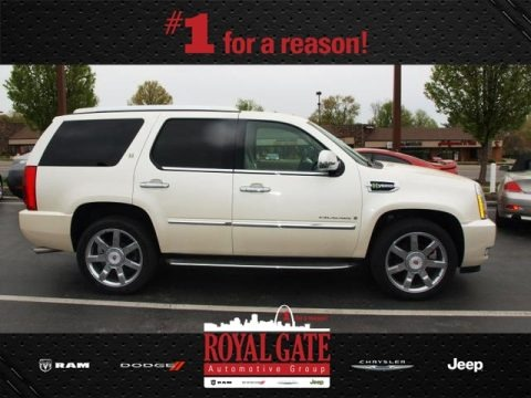 White Diamond 2009 Cadillac Escalade Hybrid AWD