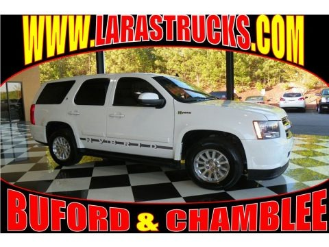 Summit White 2008 Chevrolet Tahoe Hybrid