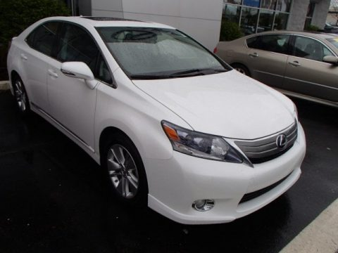 Aurora White Pearl 2010 Lexus HS 250h Hybrid Premium