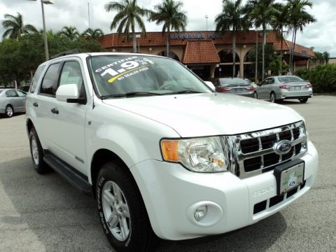 Oxford White 2008 Ford Escape Hybrid