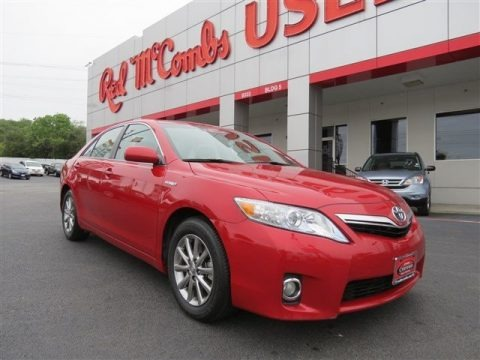 Barcelona Red Metallic 2010 Toyota Camry Hybrid