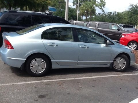 Opal Silver Blue Metallic 2008 Honda Civic Hybrid Sedan