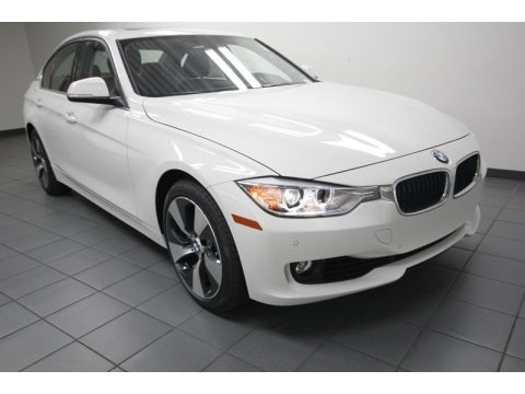 Alpine White 2013 BMW 3 Series ActiveHybrid 3 Sedan