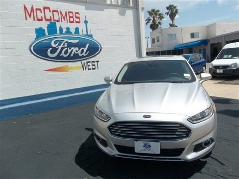 Ingot Silver Metallic 2013 Ford Fusion Hybrid SE