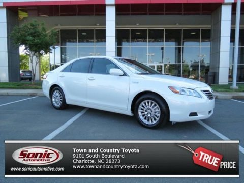 Super White 2007 Toyota Camry Hybrid