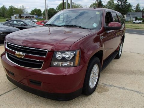 Deep Ruby Red Metallic 2009 Chevrolet Tahoe Hybrid 4x4