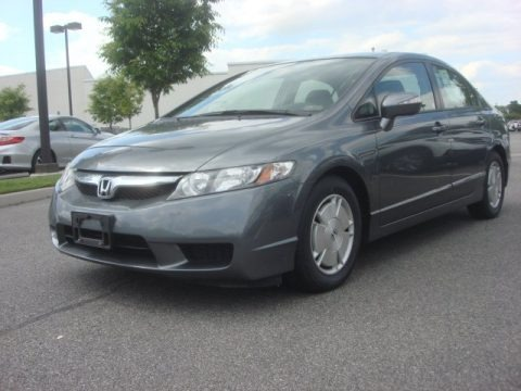 Polished Metal Metallic 2009 Honda Civic Hybrid Sedan