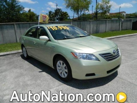 Jasper Green Pearl 2007 Toyota Camry Hybrid