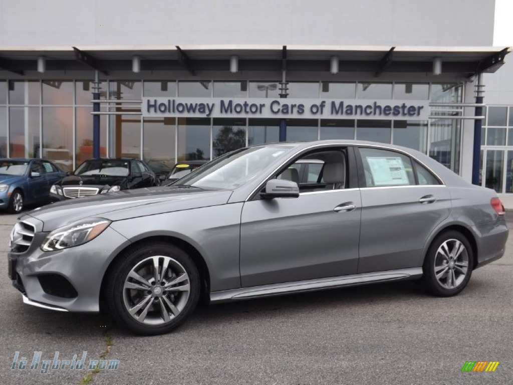2014 E 400 Hybrid Sedan - Paladium Silver Metallic / Gray/Dark Gray photo #1
