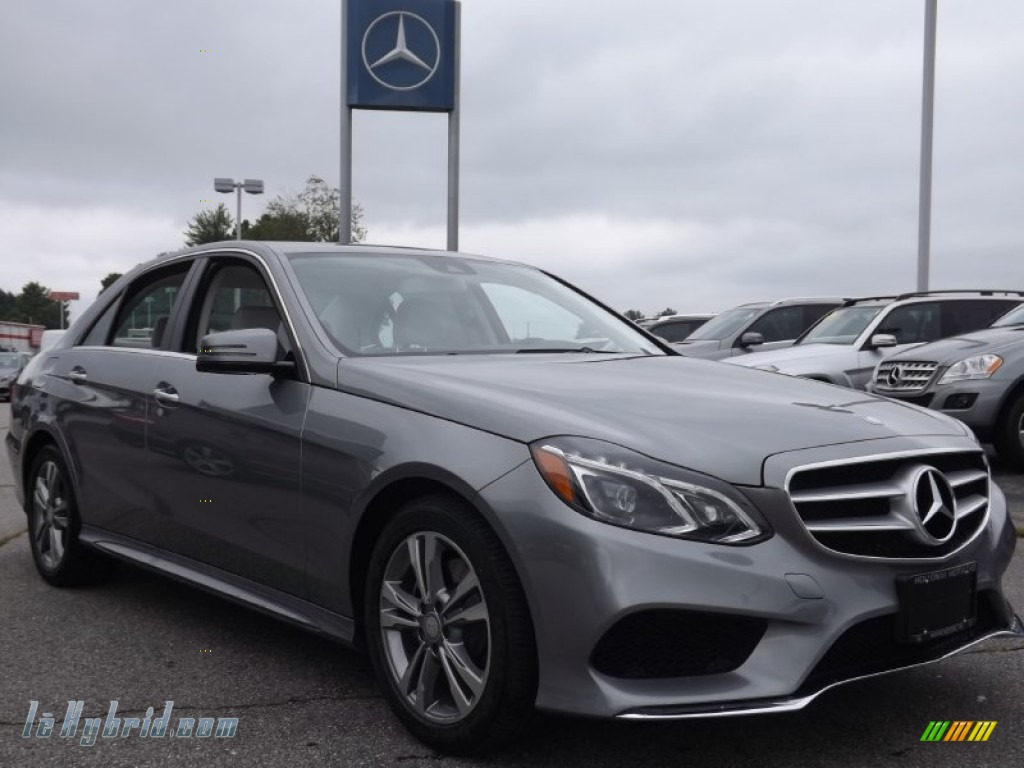 2014 E 400 Hybrid Sedan - Paladium Silver Metallic / Gray/Dark Gray photo #3