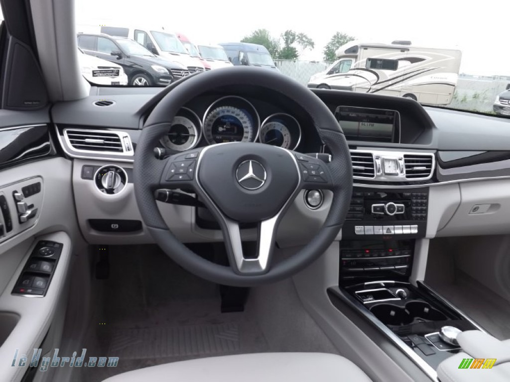 2014 E 400 Hybrid Sedan - Paladium Silver Metallic / Gray/Dark Gray photo #7