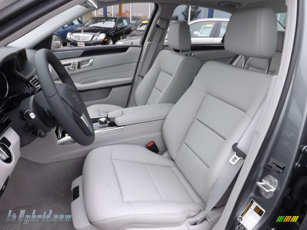 2014 E 400 Hybrid Sedan - Paladium Silver Metallic / Gray/Dark Gray photo #11