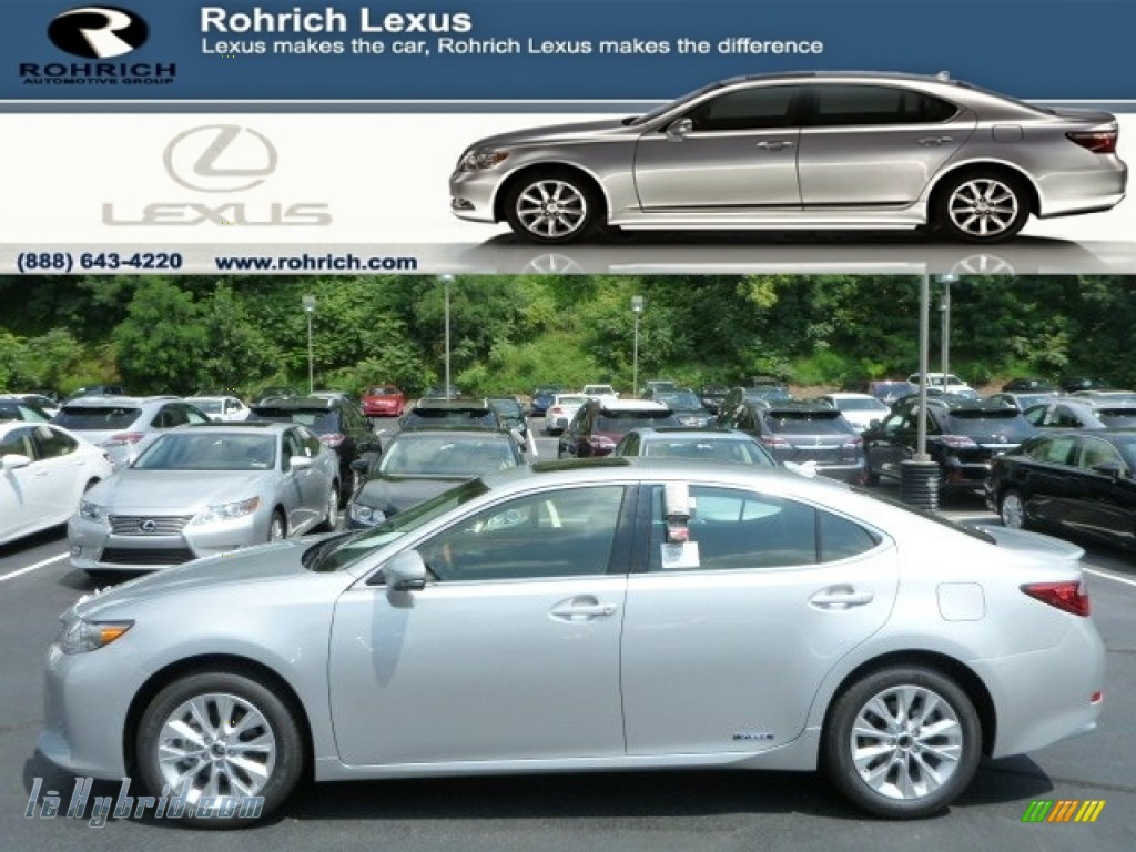 2013 ES 300h Hybrid - Silver Lining Metallic / Black photo #1