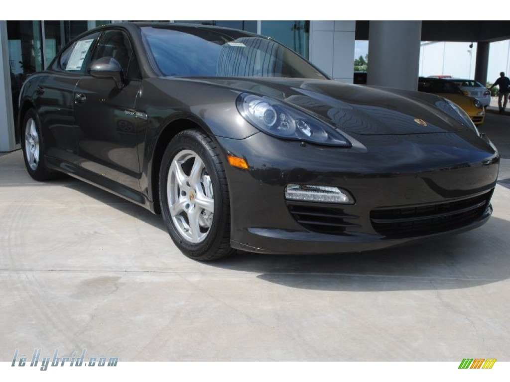 2013 Panamera Hybrid S - Carbon Grey Metallic / Black/Platinum Grey photo #1