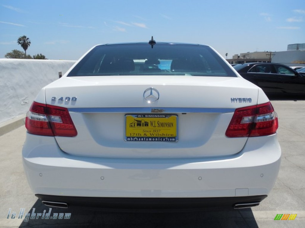 2013 E 400 Hybrid Sedan - Polar White / Black photo #5