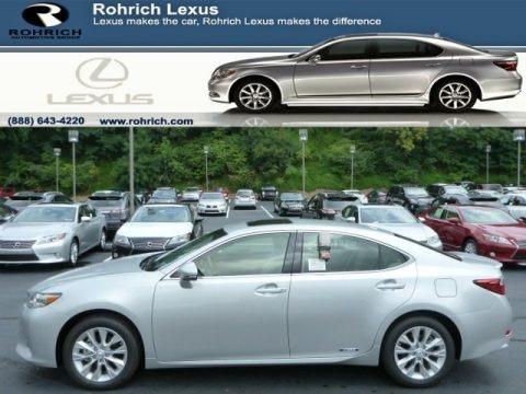 Silver Lining Metallic 2013 Lexus ES 300h Hybrid