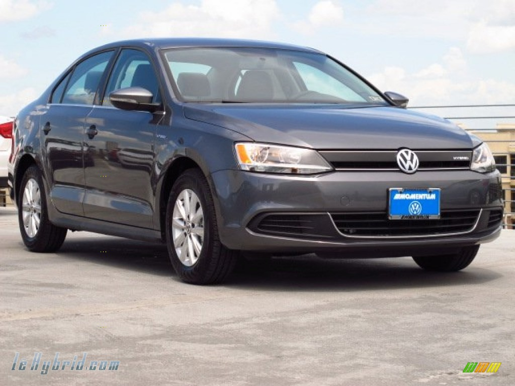 2013 Jetta Hybrid SE - Platinum Gray Metallic / Titan Black photo #1
