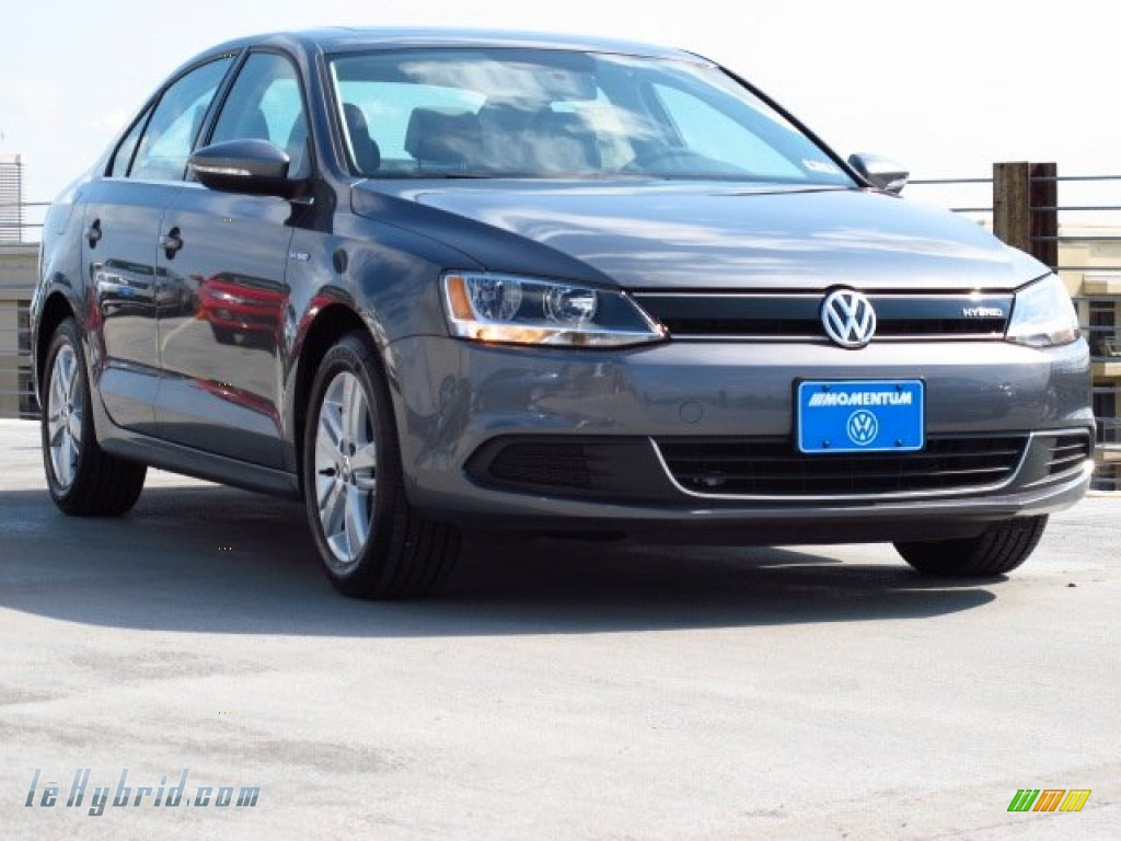 2013 Jetta Hybrid SEL - Platinum Gray Metallic / Titan Black photo #1