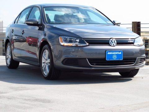 Platinum Gray Metallic 2013 Volkswagen Jetta Hybrid SEL