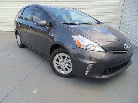 Magnetic Gray Metallic 2013 Toyota Prius v Three Hybrid