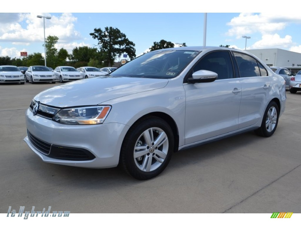 2013 Jetta Hybrid SEL - Frost Silver Metallic / Titan Black photo #1