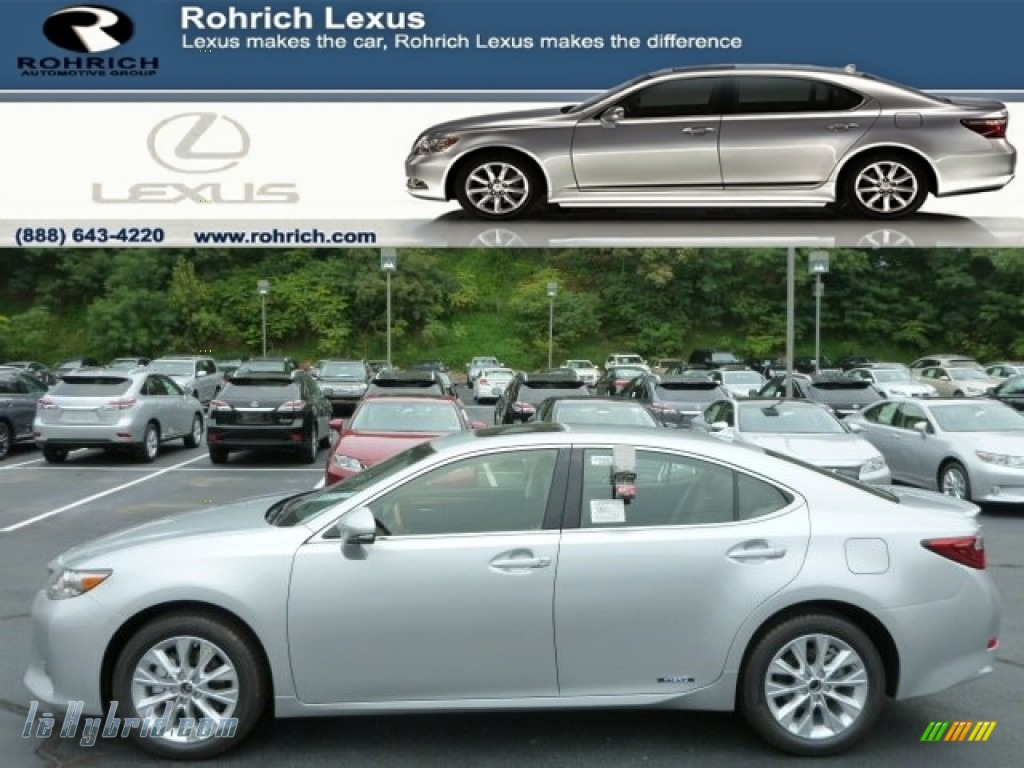 2013 ES 300h Hybrid - Silver Lining Metallic / Light Gray photo #1