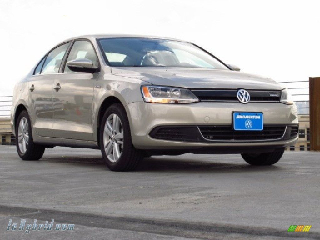 2013 Jetta Hybrid SEL - Moonrock Silver Metallic / Cornsilk Beige photo #1