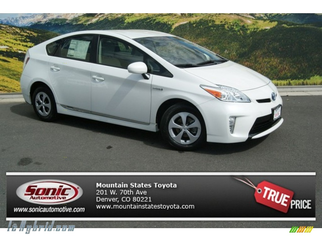 2013 toyota prius two hybrid in blizzard white pearl. Black Bedroom Furniture Sets. Home Design Ideas