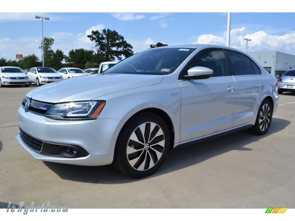2013 Jetta Hybrid SEL Premium - Frost Silver Metallic / Titan Black photo #1
