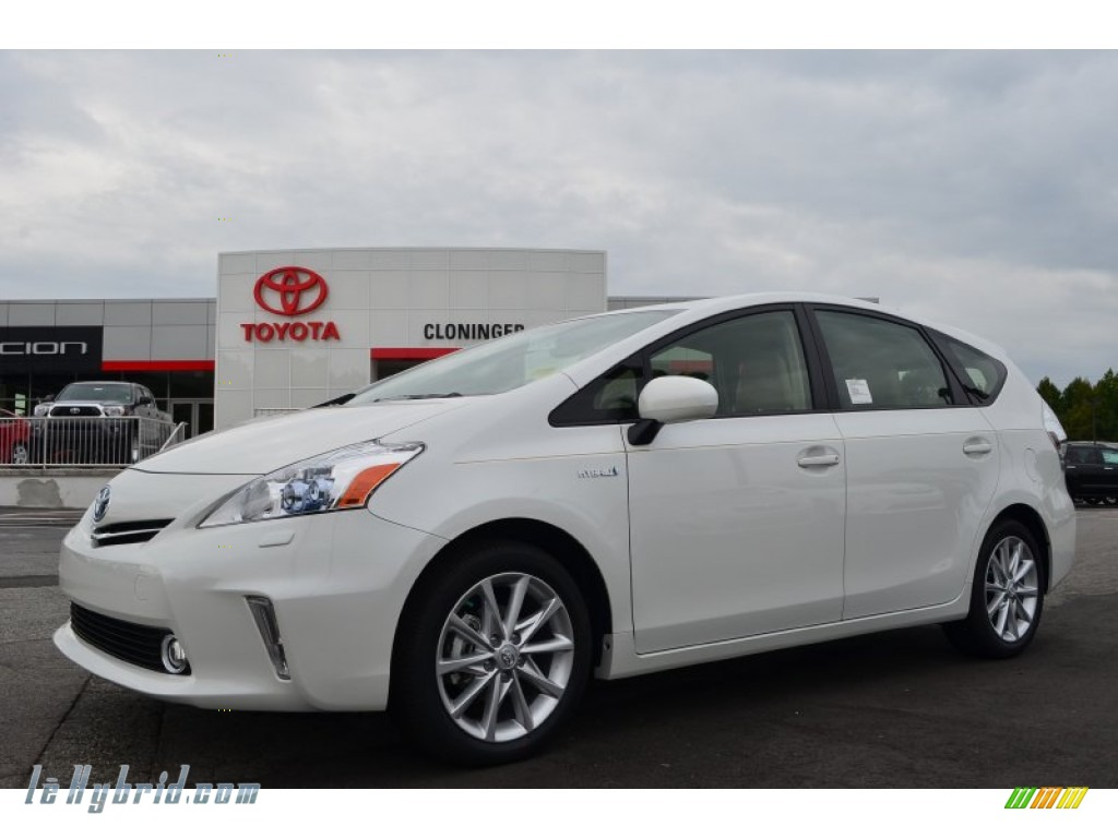 2013 toyota prius v five hybrid in blizzard white pearl 286532 hybrid cars. Black Bedroom Furniture Sets. Home Design Ideas