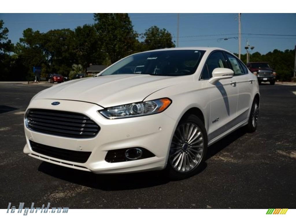 2014 Ford Fusion Hybrid Titanium In White Platinum